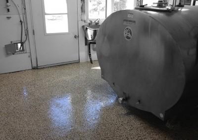 Plancher époxy industrie laitière