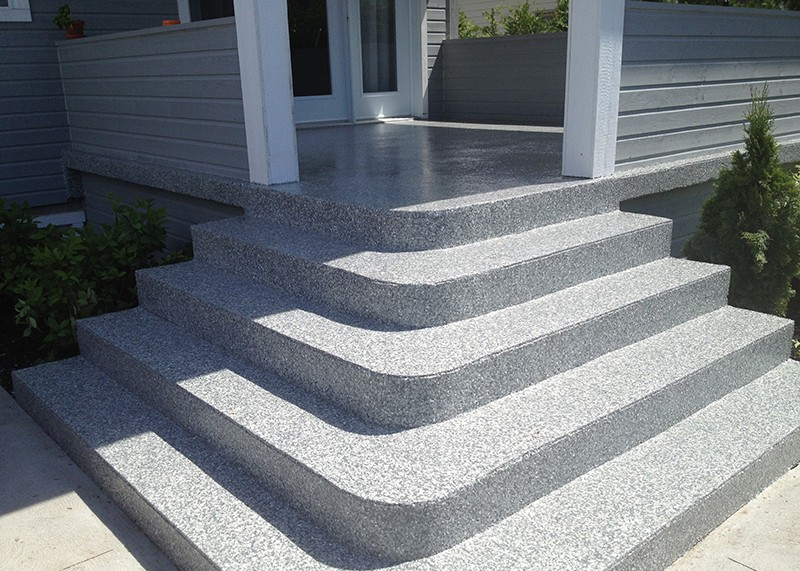 rev tement poxy escalier ext rieur avec patio atelier On recouvrement de patio en beton