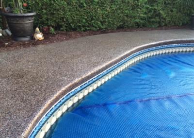 Revêtement époxy contour de piscine